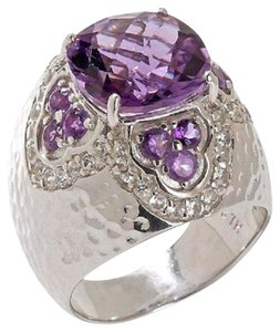 Sima K Sima K 4.83ct Amethyst and White Topaz Sterling Silver Ring