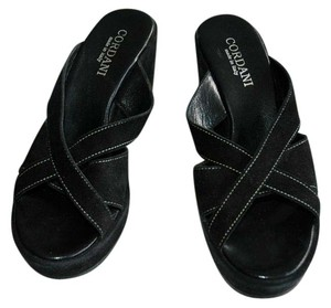Cordani Made In Italy Suede Platform Black Sandals