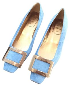Roger Vivier Baby Blue Flats