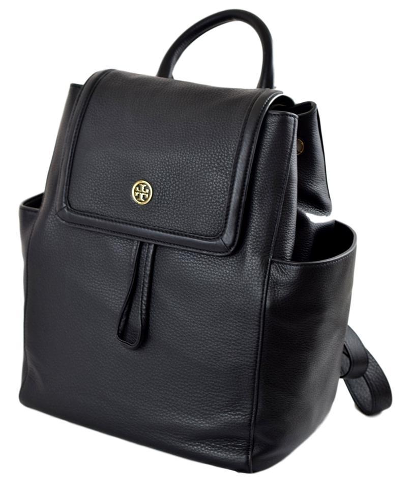 2cbce769200f Tory Burch Landon ~pay Only with Code~ Pebbled Black Leather Backpack
