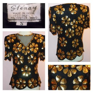 Other Top Black w/ Gold Sequins