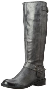 Steven by Steve Madden Engineer Full Grey Cool Black Distressed Boots