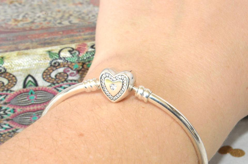 co tiffany sterling silver k bangle bangles gold bracelet authentic double heart pretty