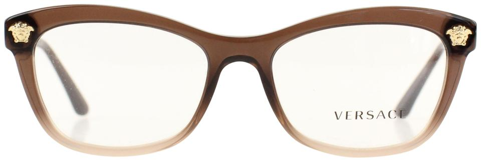e7ca24467ae Versace Brown Medusa Square Eye Optical Glasses - Tradesy
