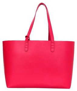 Mansur Gavriel New Leather Tote in Red
