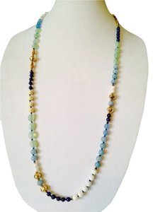 Nakamol Blue Hand-Knotted Long Mixed-Stone Necklace