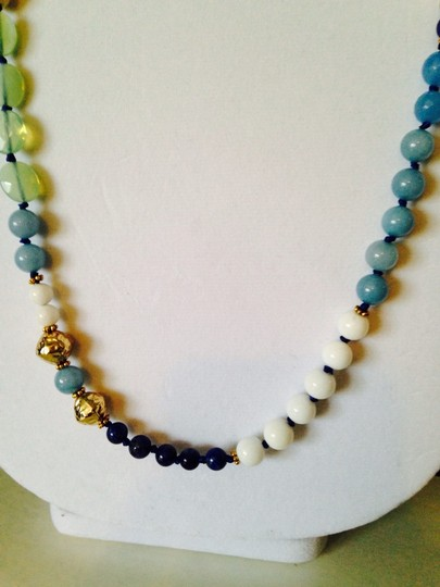 Nakamol Blue Hand-Knotted Long Mixed-Stone Necklace Image 3