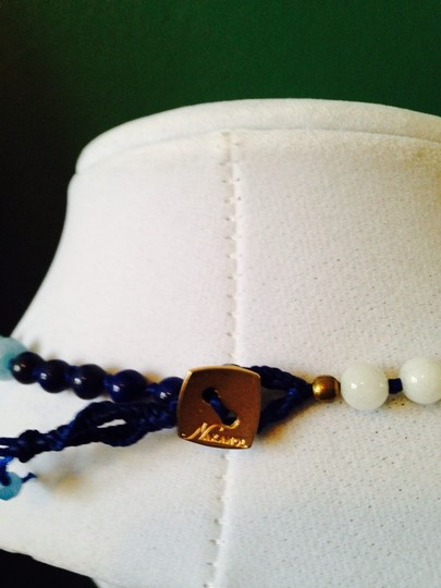 Nakamol Blue Hand-Knotted Long Mixed-Stone Necklace Image 5
