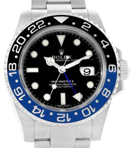 Rolex Rolex GMT Master II Batman Blue Black Ceramic Mens Watch 116710 Unworn