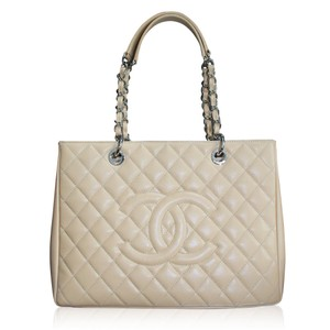 Chanel Grand Shopping Gst Tote in Beige