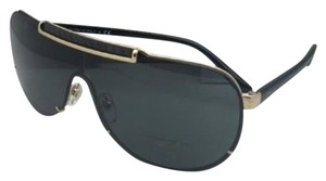 Versace New VERSACE Sunglasses VE 2140 1002/87 Gold & Black Shield w/Grey