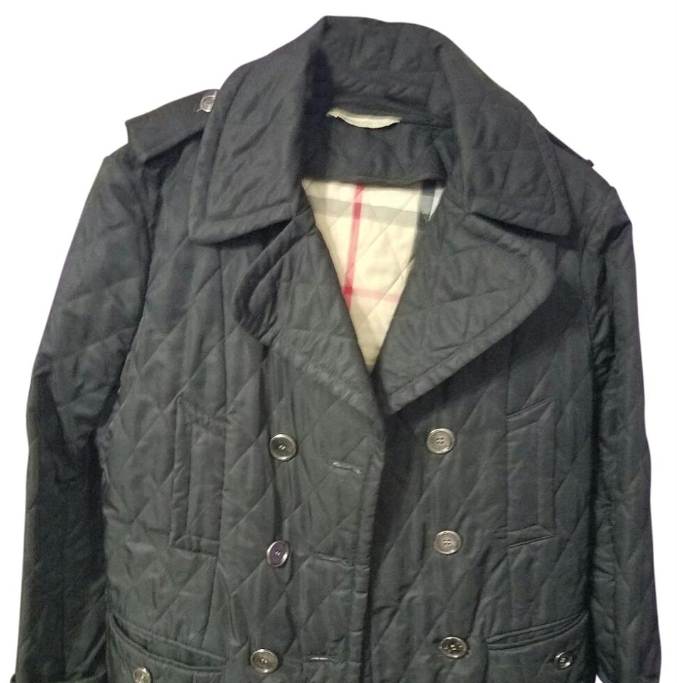 Burberry Quilted Jacket Pea Coat Size 12 L Tradesy