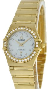Omega Lady Omega Constellation 22MM 18K Yellow Gold Diamond MOP