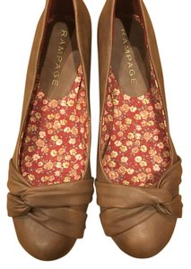 Rampage Low Heel Size 10 Leather Brown Wedges