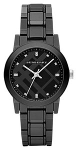 Burberry Burberry 100% Swiss Authentic Black Ceramic 16 Genuine Diamond Watch