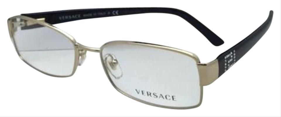 cde92936815 Versace Rx-able 1177-b-m 1252 52-16 Black   Gold Frame W Crystals W ...