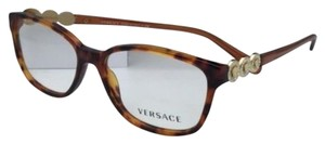 Versace New VERSACE Eyeglasses VE 3181-B 5074 53-15 Honey Tortoise w/Crystals