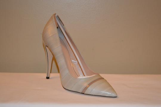 Calvin Klein Collection Ina Beige Leather Womens Pumps Image 2