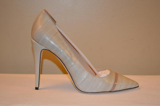 Calvin Klein Collection Ina Beige Leather Womens Pumps Image 3