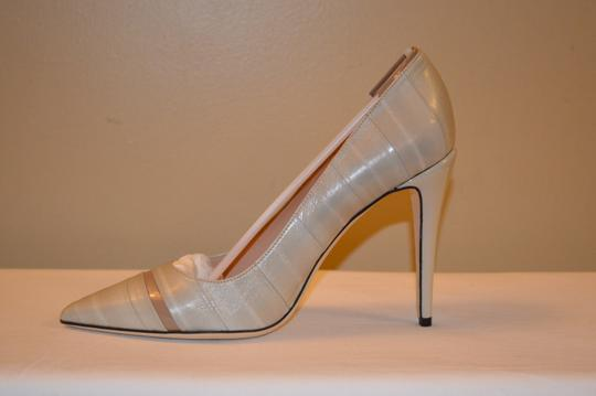 Calvin Klein Collection Ina Beige Leather Womens Pumps