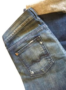 Seven7 Straight-leg Boot Cut Jeans-Distressed