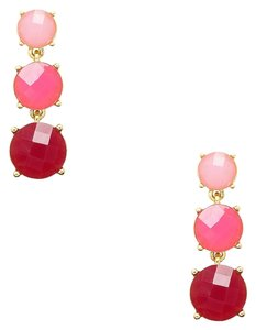 Kate Spade NEW Kate Spade New York Silver Smell The Roses Linear Pink Earrings