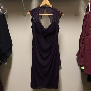 Xscape Plum/ Purple David's Bridal Plum Xscape Lace Dress Dress