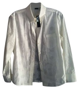 Theory Button Down Shirt White/sheer two-toned pattern