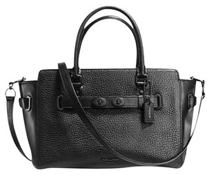 Coach Leather Rare Satchel in Black