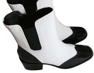 Zara Black White Boots