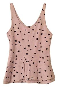 Express Top White with black stars