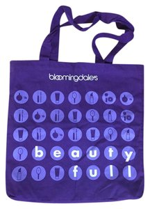 Bloomingdale's Carry On Weekender Shopper Tote in Purple, Violet, and White