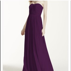 David's Bridal Plum Versa F15782 Dress