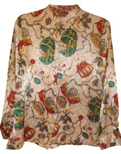 Notations Button Down Top Multi-Color