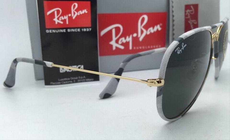 f4d49cce08 Ray-Ban New Aviator Full Color Rb 3025-j-m 171 Grey Camouflage   Gold  Sunglasses - Tradesy