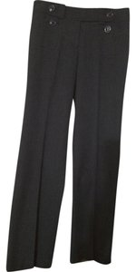 Ann Taylor Margo Womens Petite Flare Pants Blackish Gray