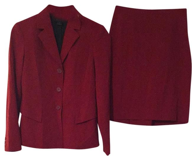 The Limited Crimson Skirt Suit