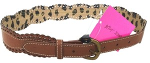 Betsey Johnson NEW! Scalloped Edge Eylet Detailed Belt