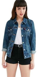 Levi's Levi Woodstock Denim Distressed Womens Jean Jacket