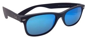 Ray-Ban Ray-Ban Sunglasses RB 2132 622/17 55-18 NEW WAYFARER Black+Blue Mirror