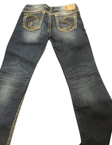 Silver Jeans Co. Bling Denim Boot Cut Jeans-Distressed