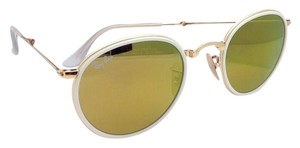 Ray-Ban New RAY-BAN Folding Sunglasses RB 3517 001/93 48-22 Gold Frame w/Brown