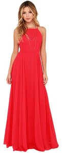 Red Maxi Dress by Lulu*s Holiday Maxi