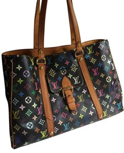 Louis Vuitton Aurelia Neverfull Tote in Black