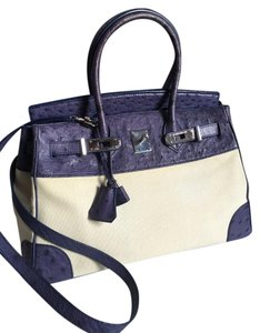 KWANPEN Birkin Ostrich Tote in Purple