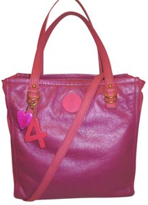 Juicy Couture Refurbished X-lg Leather Lined Tote in Pink