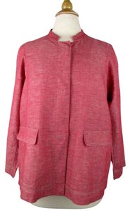 Lafayette 148 New York Linen Red and white Jacket