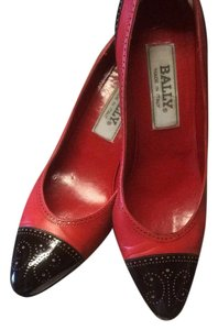 Bally Red & Black Pumps