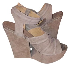 L.A.M.B. Tan Wedges