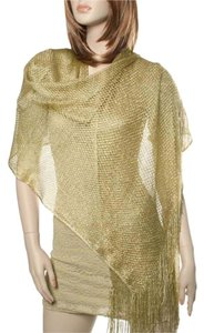 Other Gold 100% Rayon Net Metallic Scarf: Maple Leaf